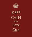 KEEP CALM AND Love Gian - Personalised Tea Towel: Premium