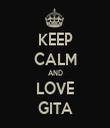 KEEP CALM AND LOVE GITA - Personalised Tea Towel: Premium