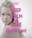 KEEP CALM AND LOVE Giulia Leni - Personalised Tea Towel: Premium