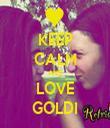 KEEP CALM AND LOVE GOLDI - Personalised Tea Towel: Premium