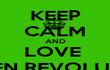 KEEP CALM AND LOVE  GREEN REVOLUTION - Personalised Tea Towel: Premium
