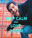 KEEP CALM AND LOVE  GRIMM - Personalised Tea Towel: Premium