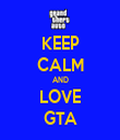 KEEP CALM AND LOVE GTA - Personalised Tea Towel: Premium