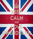 KEEP CALM AND LOVE GWENDOLYN - Personalised Tea Towel: Premium