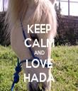 KEEP CALM AND LOVE HADA - Personalised Tea Towel: Premium
