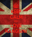 KEEP CALM AND LOVE HANGGINI - Personalised Tea Towel: Premium