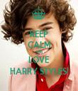 KEEP CALM AND LOVE HARRY STYLES! - Personalised Tea Towel: Premium