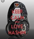 KEEP CALM AND LOVE HASHIM - Personalised Tea Towel: Premium