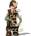 KEEP CALM AND LOVE HICCUP - Personalised Tea Towel: Premium