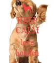 KEEP CALM AND love honden - Personalised Tea Towel: Premium