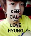 KEEP CALM AND LOVE HYUNG - Personalised Tea Towel: Premium