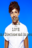 KEEP CALM AND LOVE I'm a Directioner and i'm proud - Personalised Tea Towel: Premium