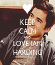 KEEP CALM AND LOVE IAN HARDING - Personalised Tea Towel: Premium