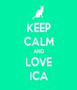 KEEP CALM AND LOVE ICA - Personalised Tea Towel: Premium