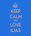 KEEP CALM AND LOVE ILIAS - Personalised Tea Towel: Premium