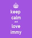 keep  calm and love immy - Personalised Tea Towel: Premium