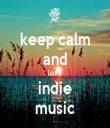 keep calm and love indie music - Personalised Tea Towel: Premium