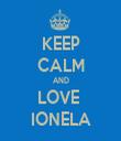 KEEP CALM AND LOVE  IONELA - Personalised Tea Towel: Premium