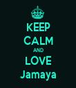 KEEP CALM AND LOVE Jamaya - Personalised Tea Towel: Premium