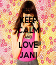 KEEP CALM AND LOVE JANI - Personalised Tea Towel: Premium