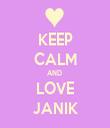 KEEP CALM AND  LOVE JANIK - Personalised Tea Towel: Premium