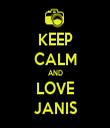 KEEP CALM AND LOVE JANIS - Personalised Tea Towel: Premium