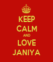 KEEP CALM AND LOVE JANIYA - Personalised Tea Towel: Premium