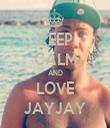 KEEP CALM AND LOVE JAYJAY - Personalised Tea Towel: Premium