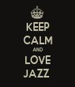 KEEP CALM AND LOVE JAZZ  - Personalised Tea Towel: Premium