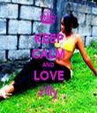 KEEP CALM AND LOVE Jilly - Personalised Tea Towel: Premium