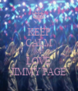 KEEP CALM AND LOVE  JIMMY PAGE  - Personalised Tea Towel: Premium