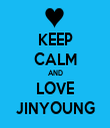 KEEP CALM AND LOVE JINYOUNG - Personalised Tea Towel: Premium