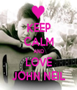 KEEP CALM AND LOVE JOHN NEIL - Personalised Tea Towel: Premium