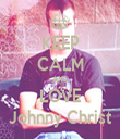 KEEP CALM AND LOVE Johnny Christ - Personalised Tea Towel: Premium