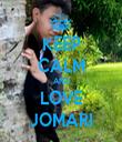 KEEP CALM AND LOVE JOMARI - Personalised Tea Towel: Premium