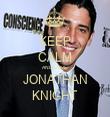KEEP CALM AND LOVE JONATHAN KNIGHT - Personalised Tea Towel: Premium