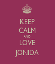 KEEP CALM AND LOVE JONIDA - Personalised Tea Towel: Premium