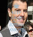 KEEP CALM AND LOVE JORDAN KNIGHT - Personalised Tea Towel: Premium