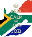 KEEP CALM AND LOVE JOZI - Personalised Tea Towel: Premium