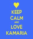 KEEP CALM AND LOVE KAMARIA - Personalised Tea Towel: Premium