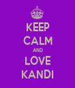 KEEP CALM AND LOVE KANDI - Personalised Tea Towel: Premium