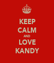 KEEP CALM AND LOVE KANDY - Personalised Tea Towel: Premium