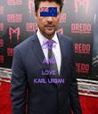 KEEP CALM AND LOVE KARL URBAN - Personalised Tea Towel: Premium