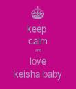 keep  calm and love keisha baby - Personalised Tea Towel: Premium