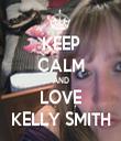 KEEP CALM AND LOVE KELLY SMITH - Personalised Tea Towel: Premium
