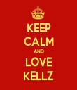KEEP CALM AND LOVE KELLZ - Personalised Tea Towel: Premium