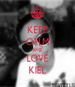 KEEP CALM AND LOVE KIEL - Personalised Tea Towel: Premium