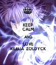 KEEP CALM AND LOVE KILLUA  ZOLDYCK - Personalised Tea Towel: Premium