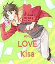 KEEP  CALM AND LOVE Kisa - Personalised Tea Towel: Premium
