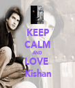 KEEP CALM AND LOVE   Kishan  - Personalised Tea Towel: Premium